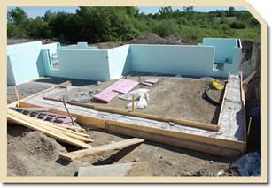 Home under construction using insulated concrete forms in Almonte, Ontario by David Barr Construction