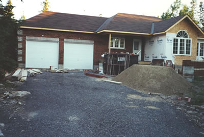 Exterior cladding for Almonte residence by David Barr Construction