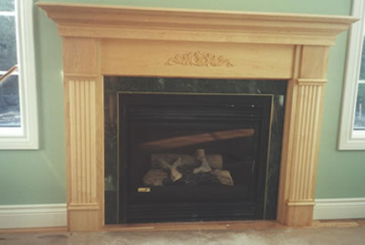 Fireplace of Almonte residence built by David Barr Construction