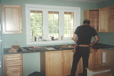 Kitchen installation of Almonte residence by David Barr Construction