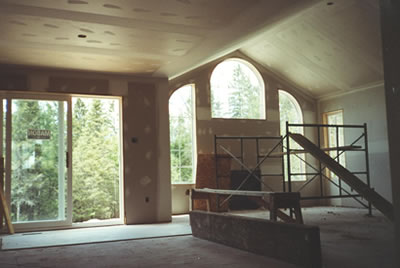 Interior drywall for Almonte residence by David Barr Construction