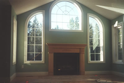 Windows of Almonte residence built by David Barr Construction