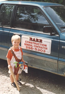 Morgan Barr of David Barr Construction as a young child