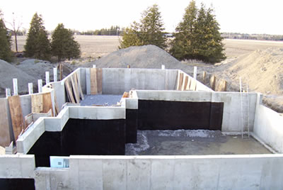 Foundation for the Nolan residence by David Barr Construction