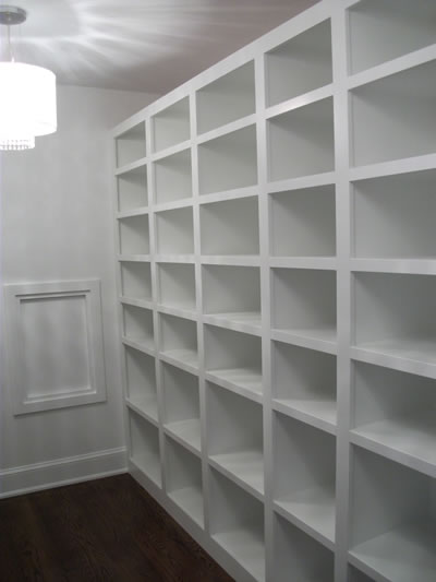 Custom closet built-ins for ICF custom home