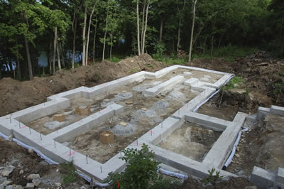 Foundation development of ICF home