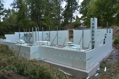Exterior development of ICF home