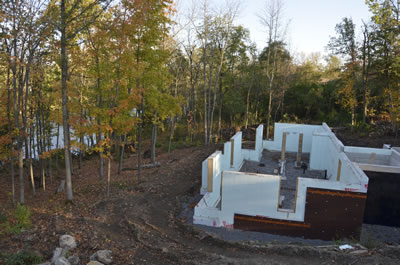 Exterior development ICF home