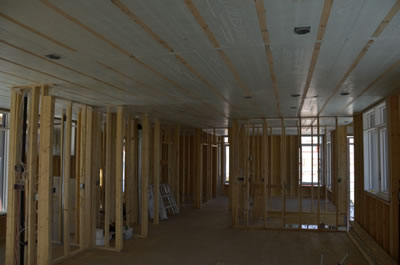 Interior framing of ICF home