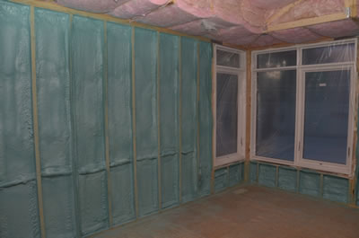 Insulation for energy efficient ICF home
