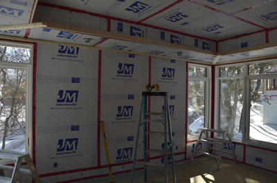 Window installation for ICF custom home
