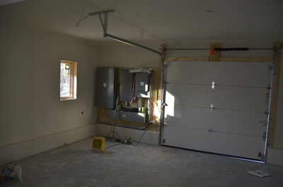 Garage in energy efficient ICF home