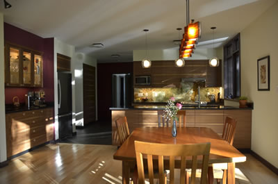 Custom kitchen in ICF home