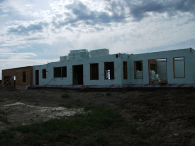 Ottawa ICF home in early construction