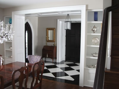 View from dining area to hallway