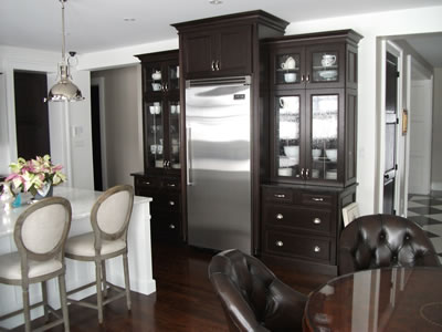 Custom kitchen cabinetry in custom home