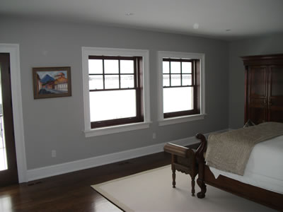 Master bedroom of Bailey residence